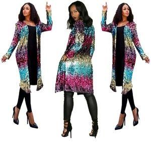 Jackets & Blazers - Multicolor sequins jacket